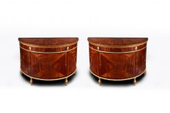 10546 - Early 19th Century George III Pair of Demilune Commodes