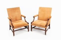 10542 - 18th Century George III Pair of Gainsborough Chairs