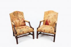 10562 - 18th Century George III Pair of Gainsborough Armchairs after Thomas Chippendale
