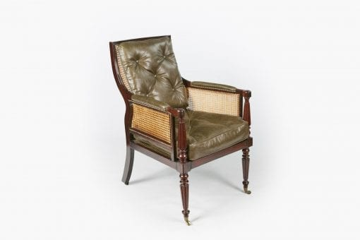 10492 - Early 19th Century Regency Bergere Library Chair