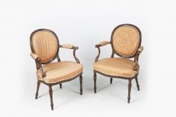 10598 - 18th Century George III Neoclassical Pair of Armchairs attributed to Adam