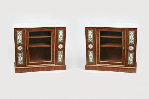 10606 - 19th Century French Louis Philippe Pair of Parcel Gilt Kingwood Cabinets