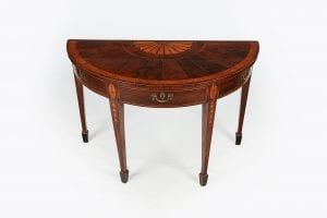 10209 – Early 19th Century Regency Demilune Table after William Moore