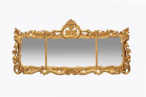 10315 – Early 19th Century Regency Giltwood Overmantle Mirror after Chippendale