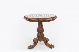 10467 – Early 19th Century Regency Marble Top Centre Table by Gillows of Lancaster and London