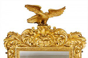 William IV Gilt Mirror with Carved Eagle and Lamb
