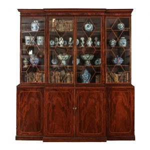 Early 19th Century Breakfront Bookcase, Stamped Gillows of Lancaster
