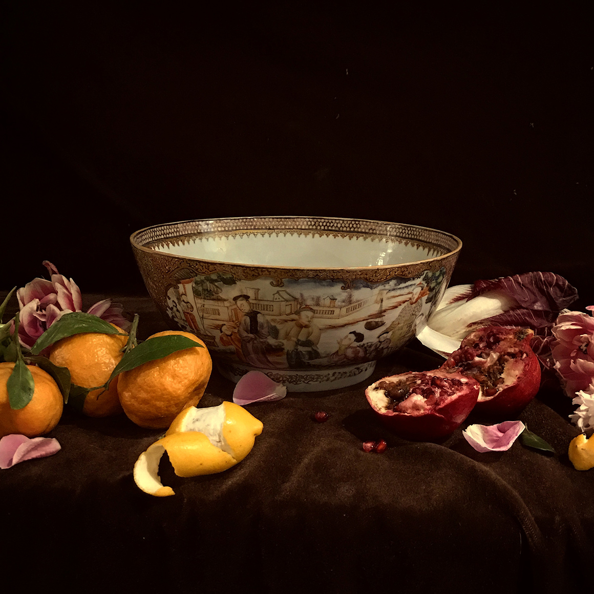 Still life with porcelain bowl
