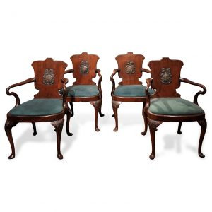 Set of Four Early 19th Century Georgian Hall Chairs, after Gillows
