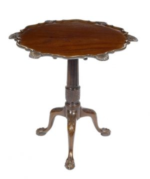 Irish Mahogany Dish-Top Table
