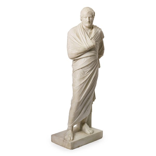 19th Century Marble Statue of Aristedes, Signed by Giacomo Cali