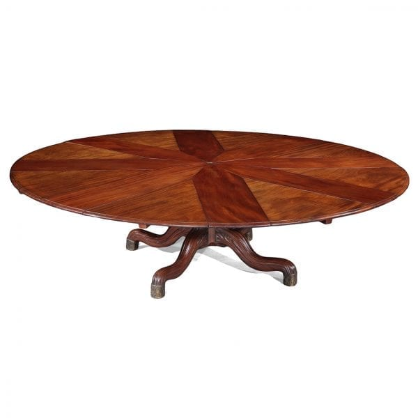 Jupe Circular Dining Table with Two Sets of Differently Sized Leaves