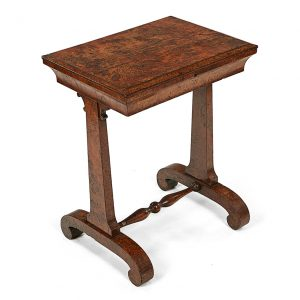 19th Century Burr Elm Work Table