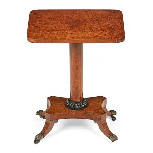 19th Century William IV Amboyna Occasional Table