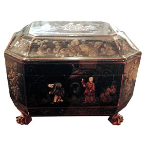 19th century Lacquered Tea Caddy