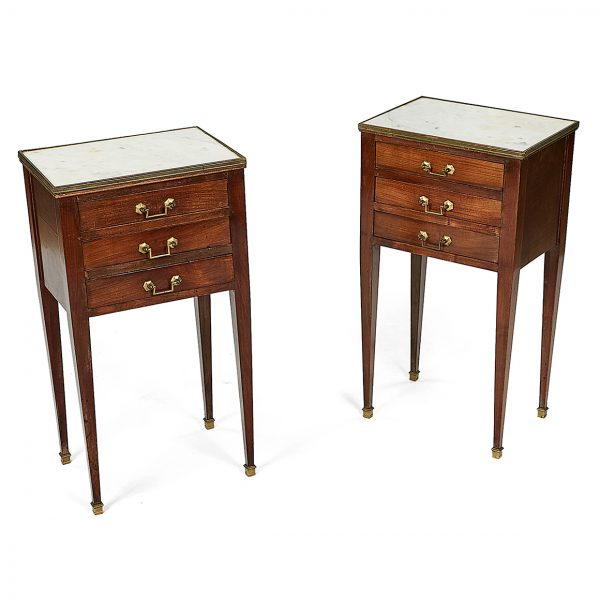Pair of 19th Century Irish Marble Top Side Tables