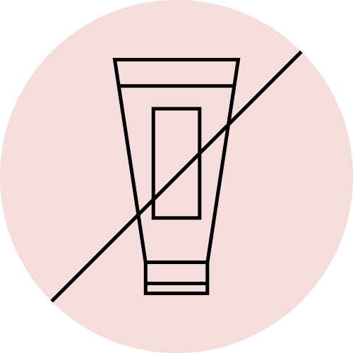 Don't apply any topical products to the skin