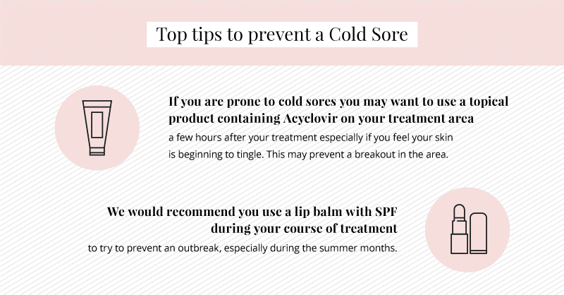 top tips to prevent a cold sore during your course of laser hair removal treatment